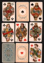 "Antique playing cards Dondorf ""Unique"" for E. Hamilton of London,"